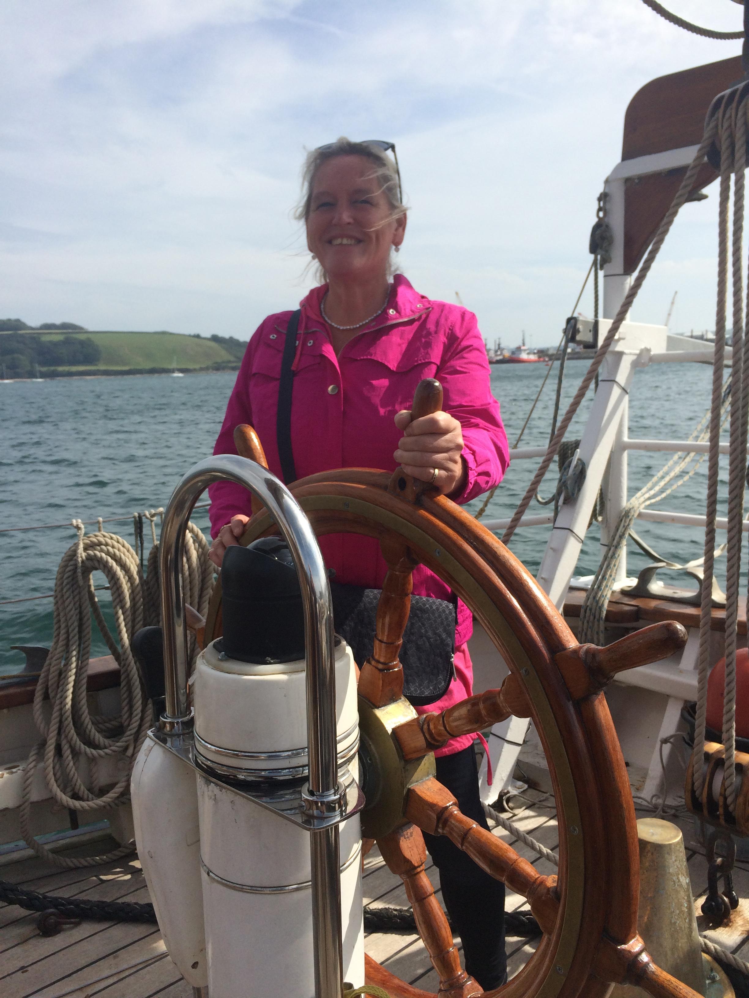 Sara Austin at the Helm