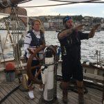 Skipper Ben says head for the horizon Debbie